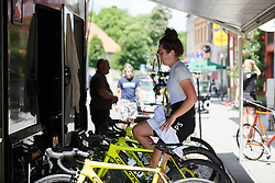 Hannah Payton (GBR) warms up at Lotto Thüringen Ladies Tour 2019 - Stage 5, a 17.9 km individual time trial in Meiningen, Germany on June 1, 2019. Photo by Sean Robinson/velofocus.com
