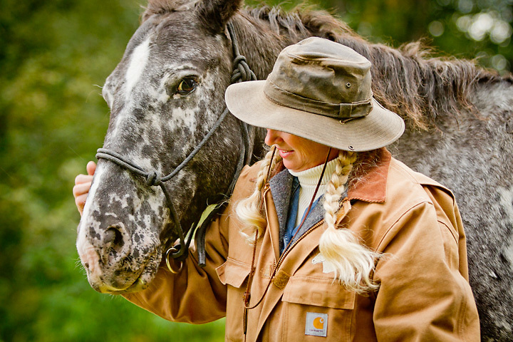 Horse wrangler, Kristie May Parsons at the Alaska State Fair, Palmer, Alaska