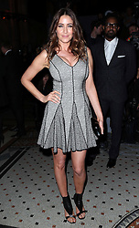 Lisa Snowdon at the Julien Macdonald show at London Fashion Week for Autumn/Winter 2014, Saturday, 15th February 2014. Picture by Stephen Lock / i-Images
