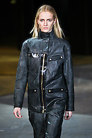 Daria Strokous walks down runway for F2012 Alexander Wang's collection in Mercedes Benz fashion week in New York on Feb 12, 2012 NYC