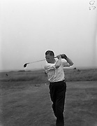 23/06/1959<br /> 06/23/1959<br /> 23 June 1959 <br /> Irish Amateur Close Golf Championships at Portmarnock, Dublin. Dr. William O'Sullivan, (Killarney Golf Club) President of the Golfing Union of Ireland, who defeated T. Howlett (Tramore) in the third round of the Irish Amateur Close Golf Championships at the Portmarnock course, is pictured driving from the 14th tee. He defeated Howlett 2 and 1.
