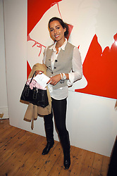 Model and actress SONIA DOUBELL at an exhibition of artist Natasha Law's work entitled 'Room' hosted by the Eleven gallery in association with Ruinart champagne at 121 Charing Cross Road, London WC2 on 16th January 2008.  Following the private view a dinner was held at Soho House hosted by Ruinart.<br /> <br />  (EMBARGOED FOR PUBLICATION IN UK MAGAZINES UNTIL 1 MONTH AFTER CREATE DATE AND TIME) www.donfeatures.com  +44 (0) 7092 235465
