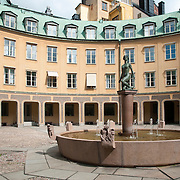 "Brantingtorget ""Square of Branting"" courtyard in Gamla Stan, Stockholm, Sweden"
