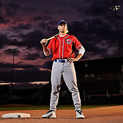 Baseball player portrait at Nat Bailey Stadium.