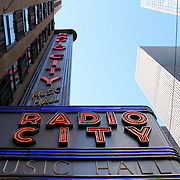 NEW YORK CITY - SEPTEMBER 04: Radio City Music Hall, located in Rockefeller Center Manhattan, its interior was declared a city landmark in 1978. September 04, 2013 in Manhattan, New York City.