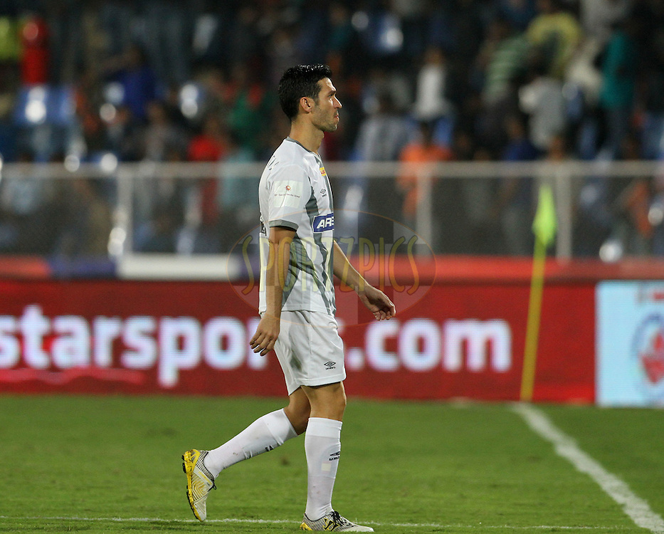 Luis Javier Garcia Sanz of Atletico de Kolkata after the match 44 of the Hero Indian Super League between FC Pune City and Atletico de Kolkata FC held at the Shree Shiv Chhatrapati Sports Complex Stadium, Pune, India on the 29th November 2014.<br /> <br /> Photo by:  Vipin Pawar/ ISL/ SPORTZPICS