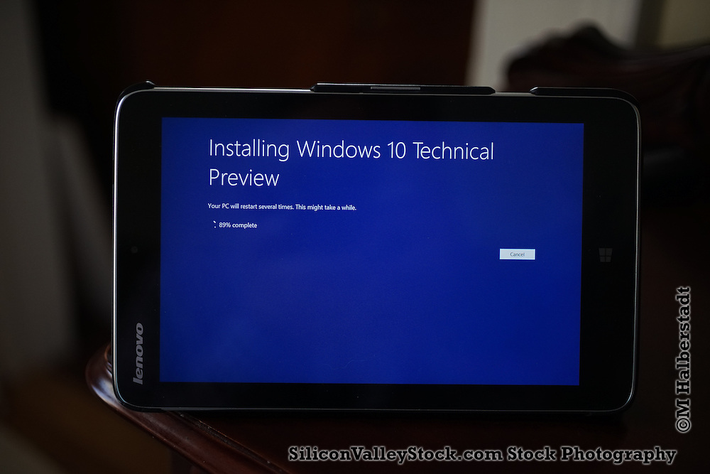 Windows 10 Technical Preview Installation on Lenovo Tablet