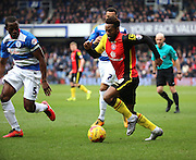Birmingham City midfielder, Jacques Maghoma (19) dribbling during the Sky Bet Championship match between Queens Park Rangers and Birmingham City at the Loftus Road Stadium, London, England on 27 February 2016. Photo by Matthew Redman.