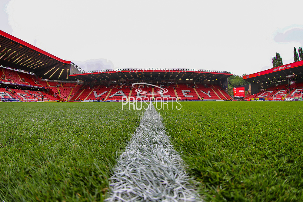 A general view inside The Valley Stadium prior to the EFL Sky Bet League 1 second leg Play-Off match between Charlton Athletic and Doncaster Rovers at The Valley, London, England on 17 May 2019.
