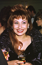 MRS VLADIMIR GUSSINSKAYA wife of the Russian TV mogul, at a ball in London on 9th February 1999.MOG 25