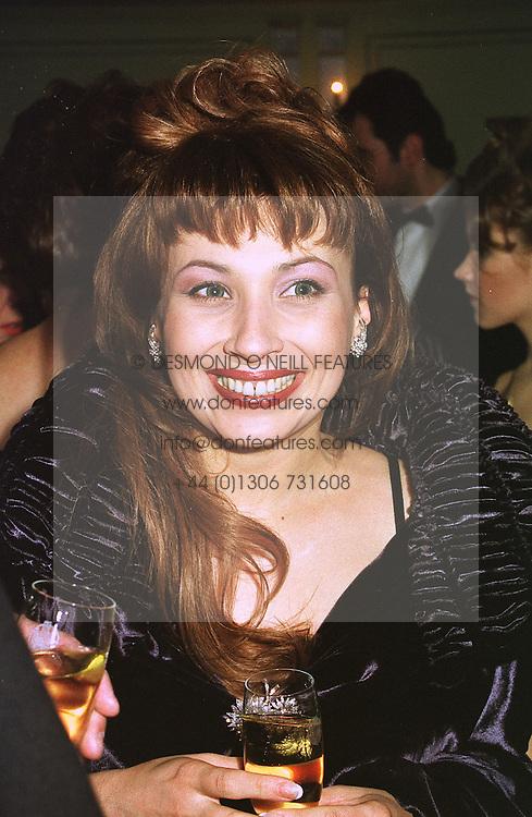 MRS VLADIMIR GUSSINSKAYA wife of the Russian TV mogul, at a ball in London on 9th February 1999.MOG 25