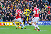 Odion Ighalo of Watford on the ball during the Barclays Premier League match between Watford and Manchester United at Vicarage Road, Watford, England on 21 November 2015. Photo by Phil Duncan.