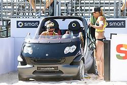 20140604 ITA: EK Beachvolleybal, Cagliari<br /> Marloes Wesselink, Laura Bloem, verliezen hun 2de wedstrijd<br /> ©2014-FotoHoogendoorn.nl / Pim Waslander