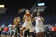"Ole Miss' Bretta Hart (24) against Christian Brothers  in an exhibition basketball game at the C.M. ""Tad"" Smith Coliseum in Oxford, Miss. on Friday, November 7, 2014. (AP Photo/Oxford Eagle, Bruce Newman)"