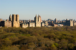 New York City, New York: Central Park and buildings as seen from the Sherry Netherlands Hotel  .Photo #: ny257-14581  .Photo copyright Lee Foster, www.fostertravel.com, lee@fostertravel.com, 510-549-2202.