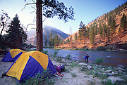 Flyfishing, Rafting, Middle Fork, Salmon River, Idaho<br />