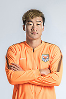 **EXCLUSIVE**Portrait of Chinese soccer player Liu Junshuai of Shandong Luneng Taishan F.C. for the 2018 Chinese Football Association Super League, in Ji'nan city, east China's Shandong province, 24 February 2018.