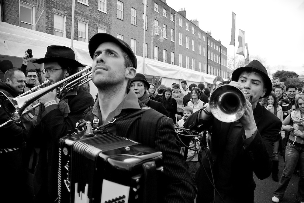 Music on the streets of Dublin during the 2009 St. Patrick's Parade.Since it's establishment in 1995 the St. Patrick's Festival has become the biggest festival in Ireland. It takes place annually on or around St. Patrick's Day, the 17th of March. The highlight of the festival is the St. Patrick's Day Parade which winds it's way through the streets of Dublin on St. Patricks Day.