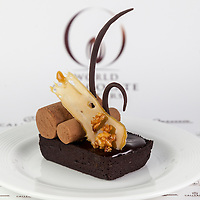 """Ruth Bleijerveld's Classic Dessert Revisited """"Tarte au Sucre"""". World Chocolate Masters Canadian Selection, January 20, 2013."""