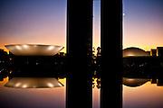 Brasilia_DF, 19 de junho de  2010...Expedicao Cultural / Estado de Minas / Petrobras...Imagens da cidade de Brasilia...Na foto Congresso Nacional em Brasilia, desenhado pelo arquiteto Oscar Niemeyer...Foto: JOAO MARCOS ROSA / NITRO