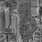 Manhattan Sea of Highrises, same as previous photo but horizontally reversed and in black and white