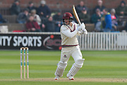 Tom Abell of Somerset batting during the Specsavers County Champ Div 1 match between Somerset County Cricket Club and Kent County Cricket Club at the Cooper Associates County Ground, Taunton, United Kingdom on 7 April 2019.