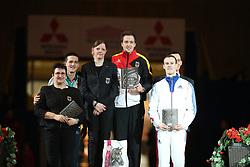 Drewell, Jannis (GER);<br /> Drewell, Simone;<br /> Kaiser, Daniel (GER);<br /> Vorgerg, Nina;<br /> Haennel, Vincent (FRA);<br /> Holzberger, Fabrice, <br /> Dortmund - Signal Iduna Cup 2016<br /> Voltigieren FEI Weltcup Finale Herren<br /> © www.sportfotos-lafrentz.de / Stefan Lafrentz