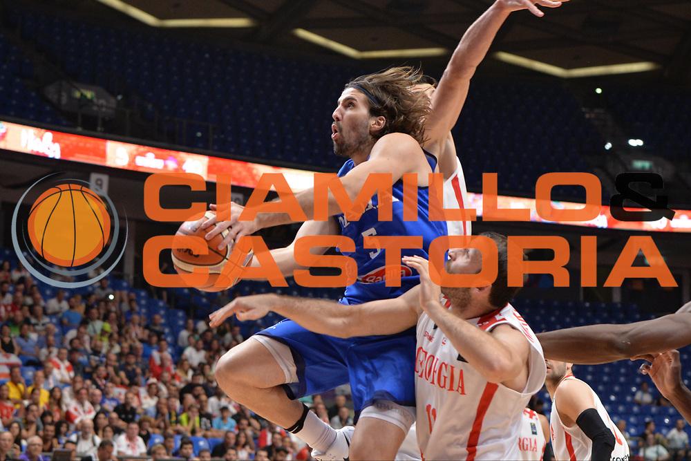 Ariel Filloy<br /> Nazionale Italiana Maschile Senior<br /> Eurobasket 2017 - Group Phase<br /> Georgia - Italia<br /> FIP 2017<br /> Tel Aviv, 02/09/2017<br /> Foto Ciamillo - Castoria/ M.Longo