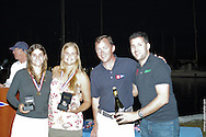 Martine Soffiatti Grael and Kahena Kunze accept the award for 1st Place at the 49erFX Nationals in Coconut Grove, Florida