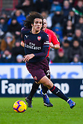 Matteo Guendouzi of Arsenal (29) in action during the Premier League match between Huddersfield Town and Arsenal at the John Smiths Stadium, Huddersfield, England on 9 February 2019.
