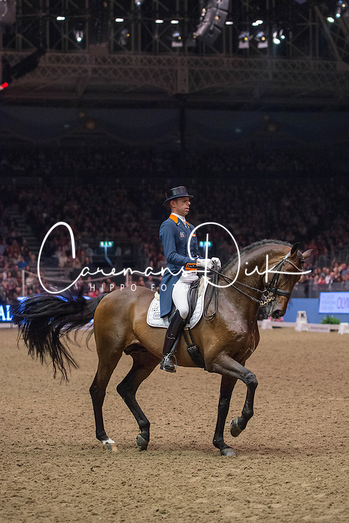 Minderhoud Hans Peter (NED) - Glock's Romanov<br /> Reem Acra FEI World Cup Dressage <br /> London International Horse Show Olympia 2013<br /> &copy; Hippo Foto - Jon Stroud