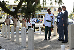 Prince Harry during a visit to the Commonwealth War Graves in Georgetown, Guyana after arriving in the South American country on the final stop of his 15-day tour of the Caribbean.
