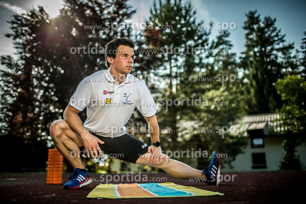 Media day of athlete Tadej Enci, 400m runner, organised by ZSIS - POK, on June 5, 2017 in Stadium Ob Jezeru, Velenje, Slovenia. Photo by Vid Ponikvar / Sportida