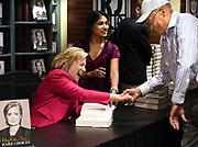 (Mara Lavitt &mdash; New Haven Register) <br /> July 19, 2014 Madison<br /> R.J. Julia Booksellers in Madison hosted a Hillary Clinton book signing for her book &quot;Hard Choices.&quot; At least a thousand people got their copies signed. Clinton greets James Thomas, senior fellow at the Yale Law School.<br /> mlavitt@newhavenregister.com