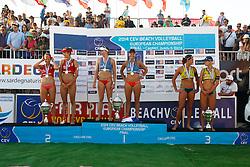 20140607 ITA: EK Beachvolleybal, Cagliari<br /> Marleen van Iersel en Madelein Meppelink winnen goud op het EK 2014, Goricanec - Huberli winnen het zilver, Walkenhorst - Ludwig winnen het brons<br /> ©2014-FotoHoogendoorn.nl / Pim Waslander