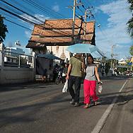 Thailand. Bangkok. Decaying temple in Thonburi/ Temple en ruine a Thonburi