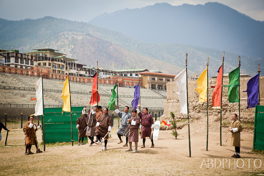 Archers in Thimphu Bhutan Asia Thimphu, Bhutan