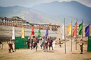 Archers in Thimphu Bhutan Asia