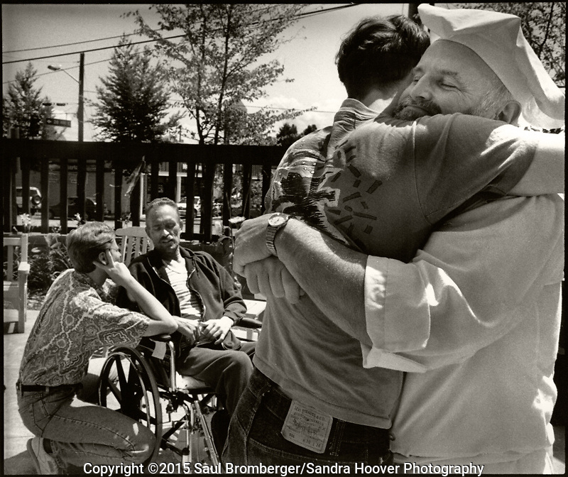 Documentary photo essay about some of the men and women living and battling the ravaging and horrific effects of AIDS, at the Bailey-Boushay House, an AIDS Hospice, in Seattle, WA., from June 1992 to April 1995.<br />