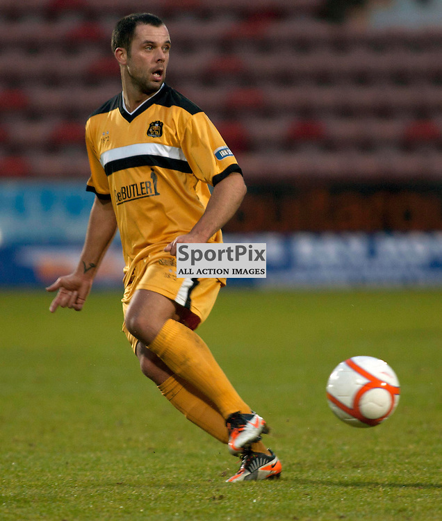 Chris Turner (Dumbarton) Dunfermline v Dumbarton Scottish Division 1 Saturday 24 November 2012. (c) Russell Sneddon | StockPix.eu