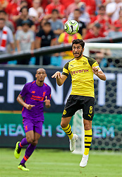 CHARLOTTE, USA - Sunday, July 22, 2018: Borussia Dortmund's captain Nuri Sahin during a preseason International Champions Cup match between Borussia Dortmund and Liverpool FC at the  Bank of America Stadium. (Pic by David Rawcliffe/Propaganda)
