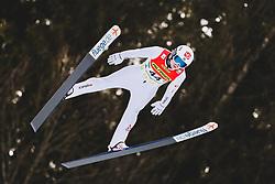 16.02.2020, Kulm, Bad Mitterndorf, AUT, FIS Ski Flug Weltcup, Kulm, Herren, Qualifikation, im Bild Marius Lindvik (NOR) // Marius Lindvik of Norway during his qualification Jump for the men's FIS Ski Flying World Cup at the Kulm in Bad Mitterndorf, Austria on 2020/02/16. EXPA Pictures © 2020, PhotoCredit: EXPA/ JFK
