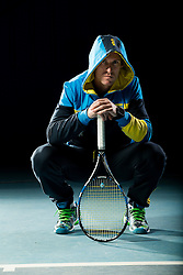 Grega Zemlja, Slovenian tennis player during photo session for Toper, on December 22, 2016 in Kranj, Slovenia. Photo by Vid Ponikvar / Sportida
