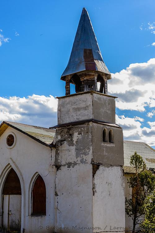 Old Turkey Creek Church stands abandoned near Gardner, CO