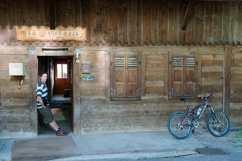 Mountain bike photographer Sterling Lorence in Chatel, France