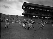 10/08/1958<br /> 08/10/1958<br /> 10 August 1958<br /> All-Ireland Senior Semi-Final: Limerick v Antrim at Croke Park, Dublin.