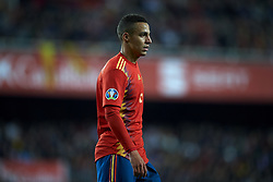 March 23, 2019 - Valencia, Valencia, Spain - Rodrigo Moreno of Spain in action during the 2020 UEFA European Championships group F qualifying match between Spain and Norway at Estadi de Mestalla on March 23, 2019 in Valencia, Spain. (Credit Image: © Jose Breton/NurPhoto via ZUMA Press)