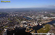aerial photograph of  Cardiff Bay Wales UK
