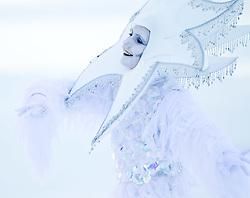 08.02.2011, Kandahar, Garmisch Partenkirchen, GER, FIS Alpin Ski WM 2011, GAP, Lady Super G, im Bild eine weibliche person als Schneefee verkleidet unterhält die Zuschauer // a female person dressed as a snow fairy eintertain to the audience during Women Super G, Fis Alpine Ski World Championships in Garmisch Partenkirchen, Germany on 8/2/2011, 2011, EXPA Pictures © 2011, PhotoCredit: EXPA/ J. Feichter