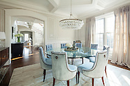 Westchester home, dining room. Designed by 914 Interiors.